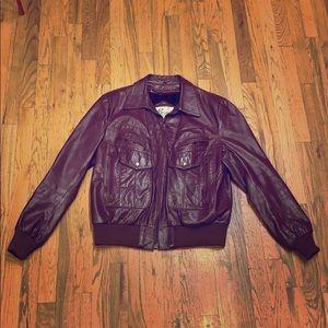 Vintage Berman's - Bomber Leather Jacket